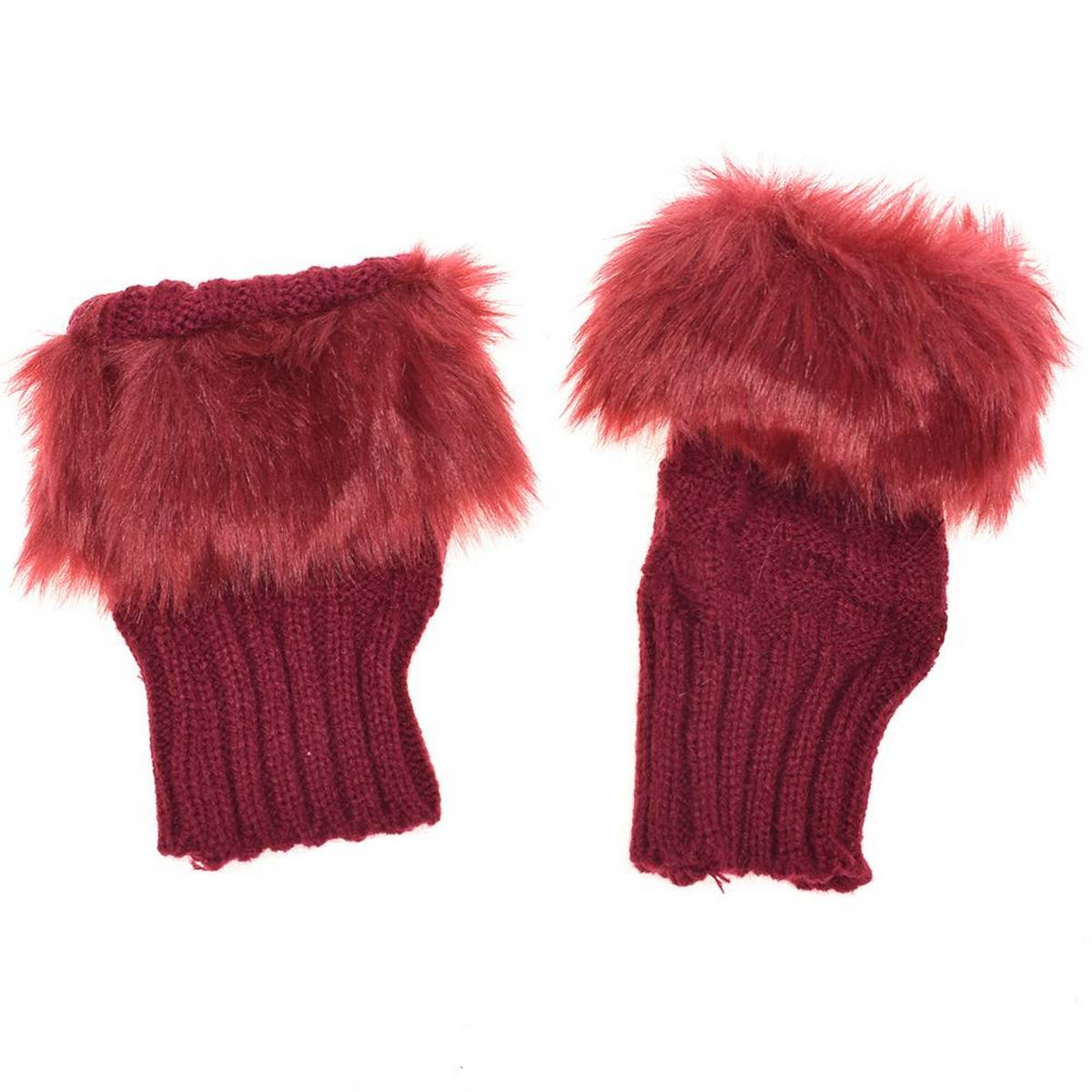 Fancy Winter Women Gloves  Knitting Wool Keep Warm Short Mitten Fingerless Lady Girl Half Finger Glove