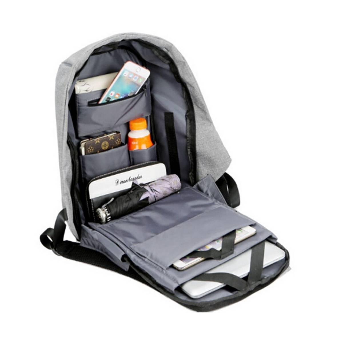 Fashion Custom Oem15.6 Inch Nylon Business Travel Waterproof Usb Laptop Antitheft Anti Theft Backpack Bag Women Men Hot