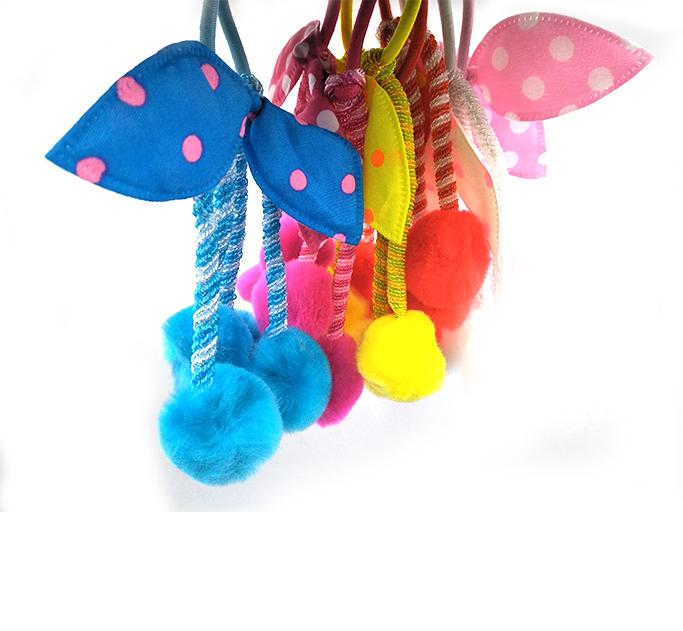 Poom Poom Ponies for kids Girls Women and can be use on bags Pack of 2