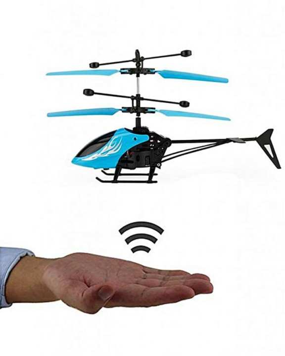 Rechargeable Control Flying Helicopter With Infrared Sensor
