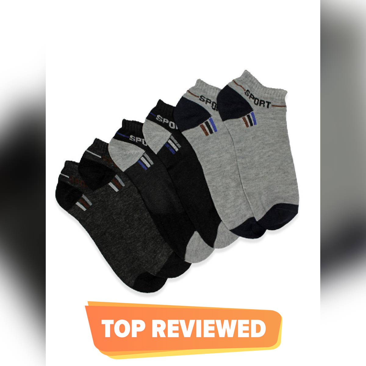 Cut Price Ankle Socks Multi-color Pack of 3