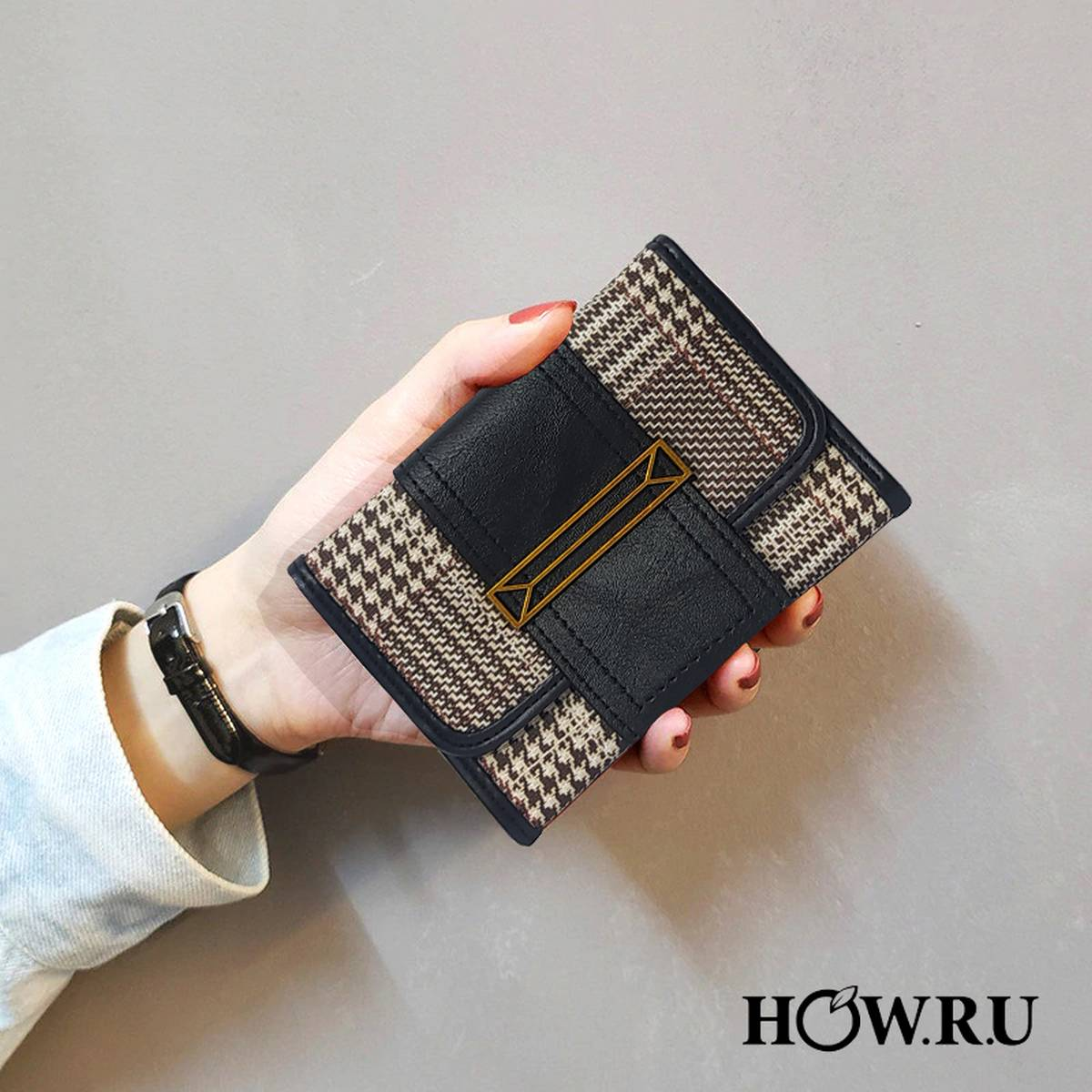HOW.R.U Mini Trifold Short Wallet Small Purse for Women and Girls