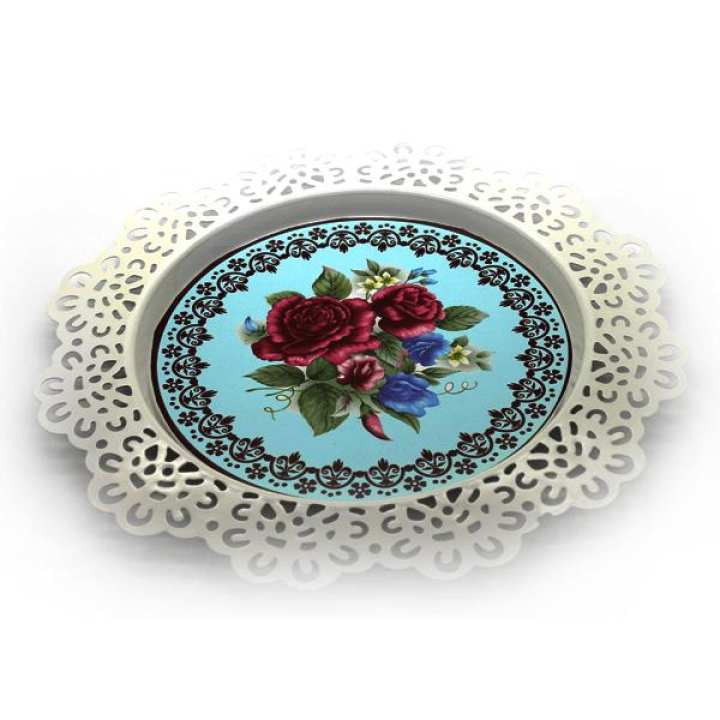 Cake Serving Plate Roses Design 8 Inches, Plate For Cake Serving Bakeware