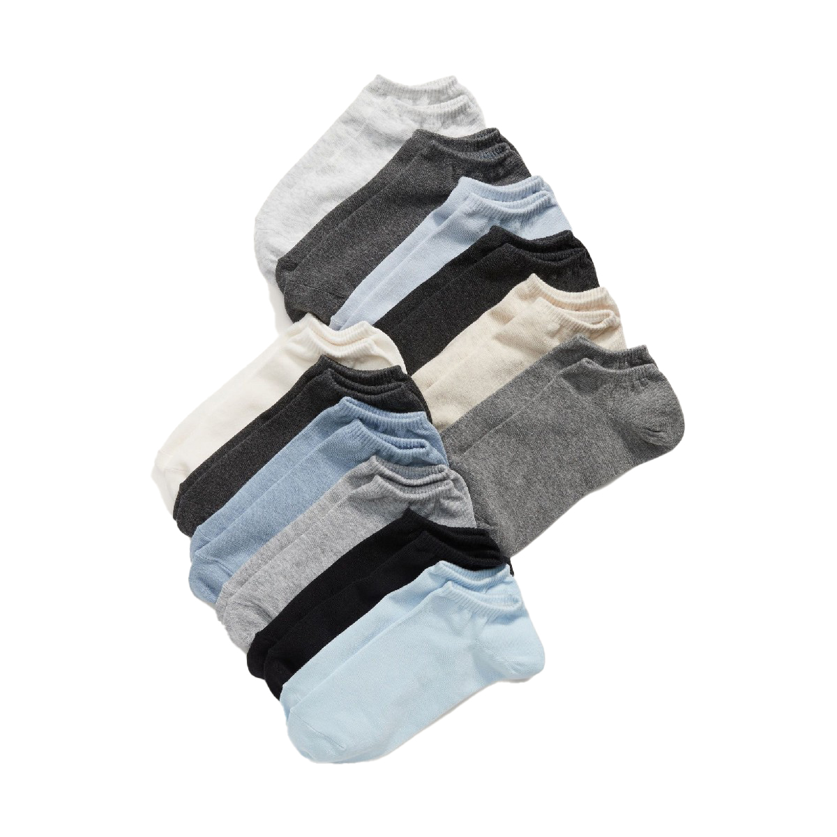 Code 9 Pairs Cotton Ankle Socks For Men Women - 3 Random colors
