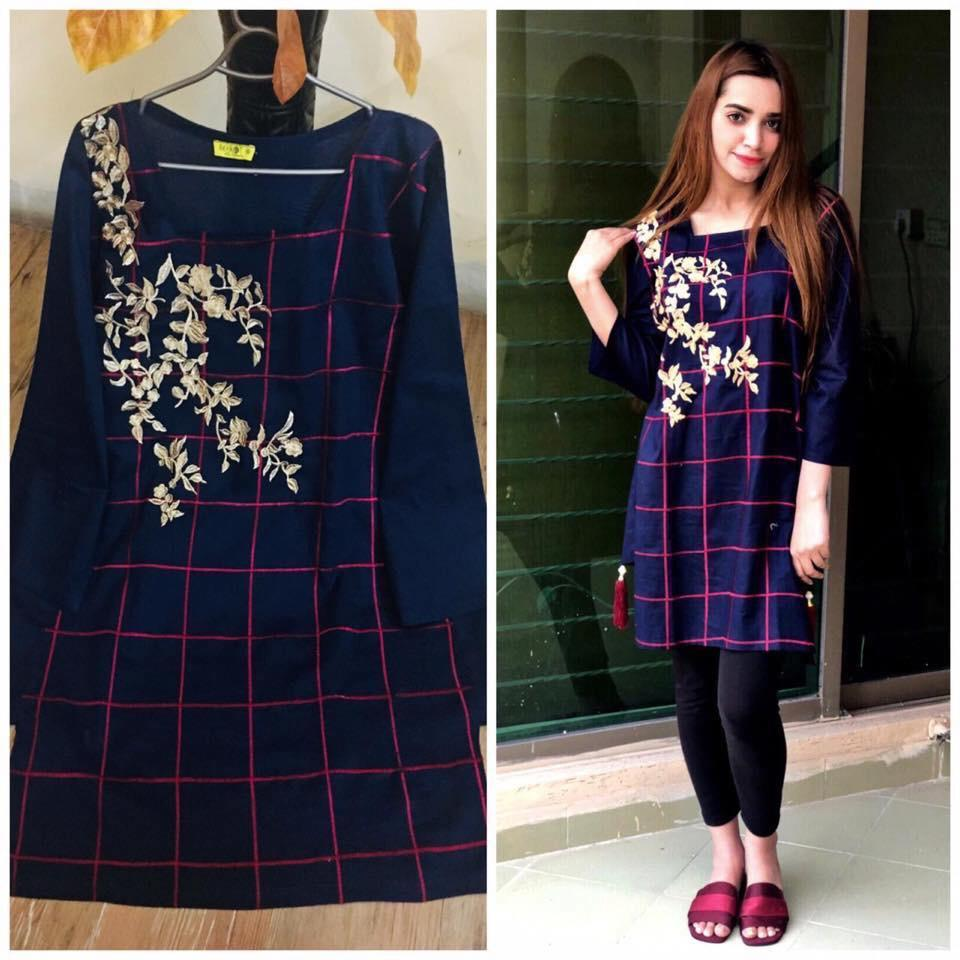 5cc0efcf99b Classical Flower Embroidery Kurti for Women