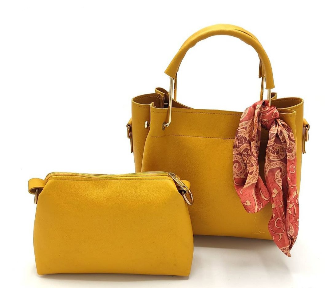 Ladies Handbags 2 Pcs Good Quality Pure Leather