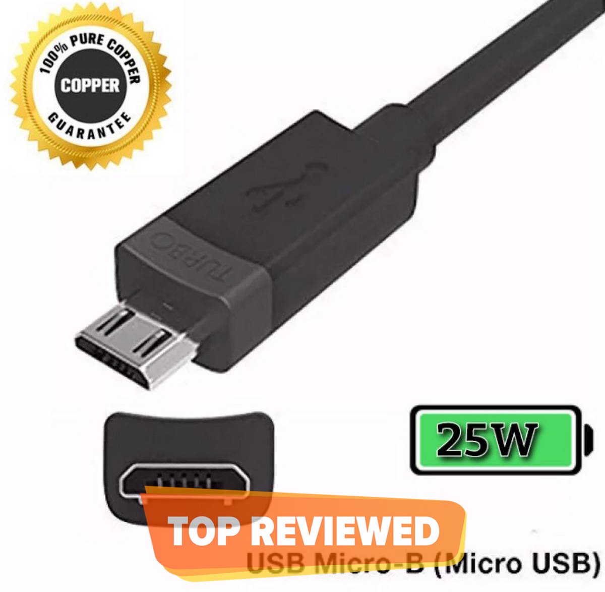 Turbo Charging Data Cable for Android Mobile Phones