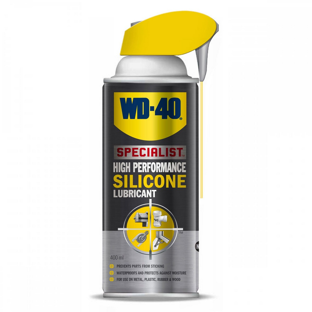 WD-40 Specialist Silicone Lubricant 400ml with Smart Straw - Made in UK