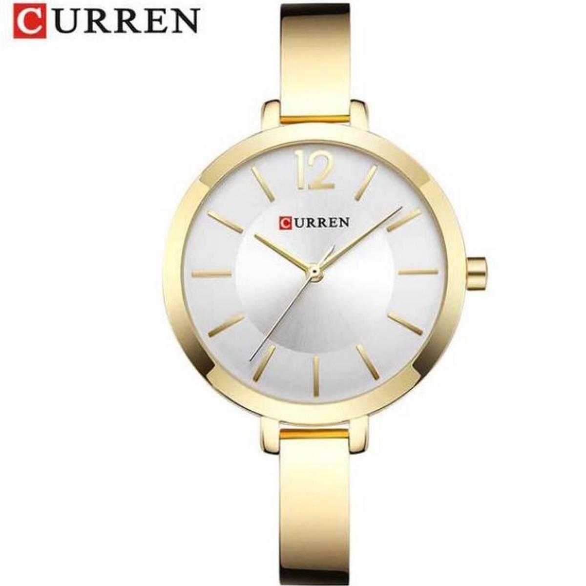 CURREN Stainless Steel Ultra thin Quartz Watch Woman Romantic Clock Women Japan Quartz - 9012