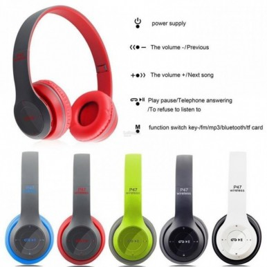 P47 Wireless Bluetooth Foldable Headset With Microphone