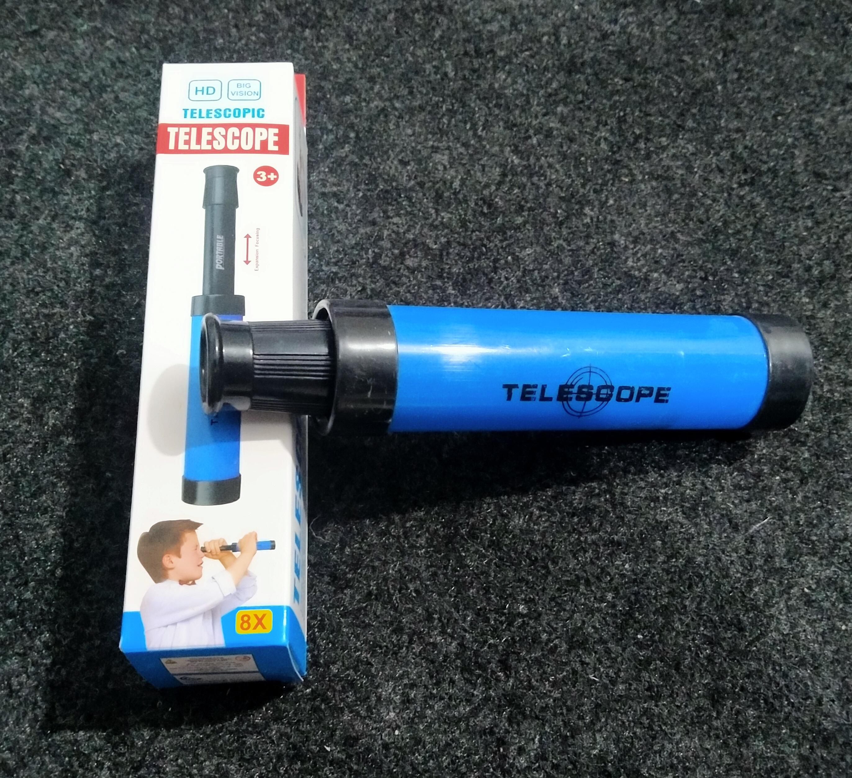 Telescope Retractable Pocket Monocular Educational Science Toys for Kids Boys Girls Fun Outdoor Activity