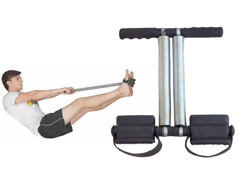 Tummy Trimmer Double Spring  for Gym Exercise - Black