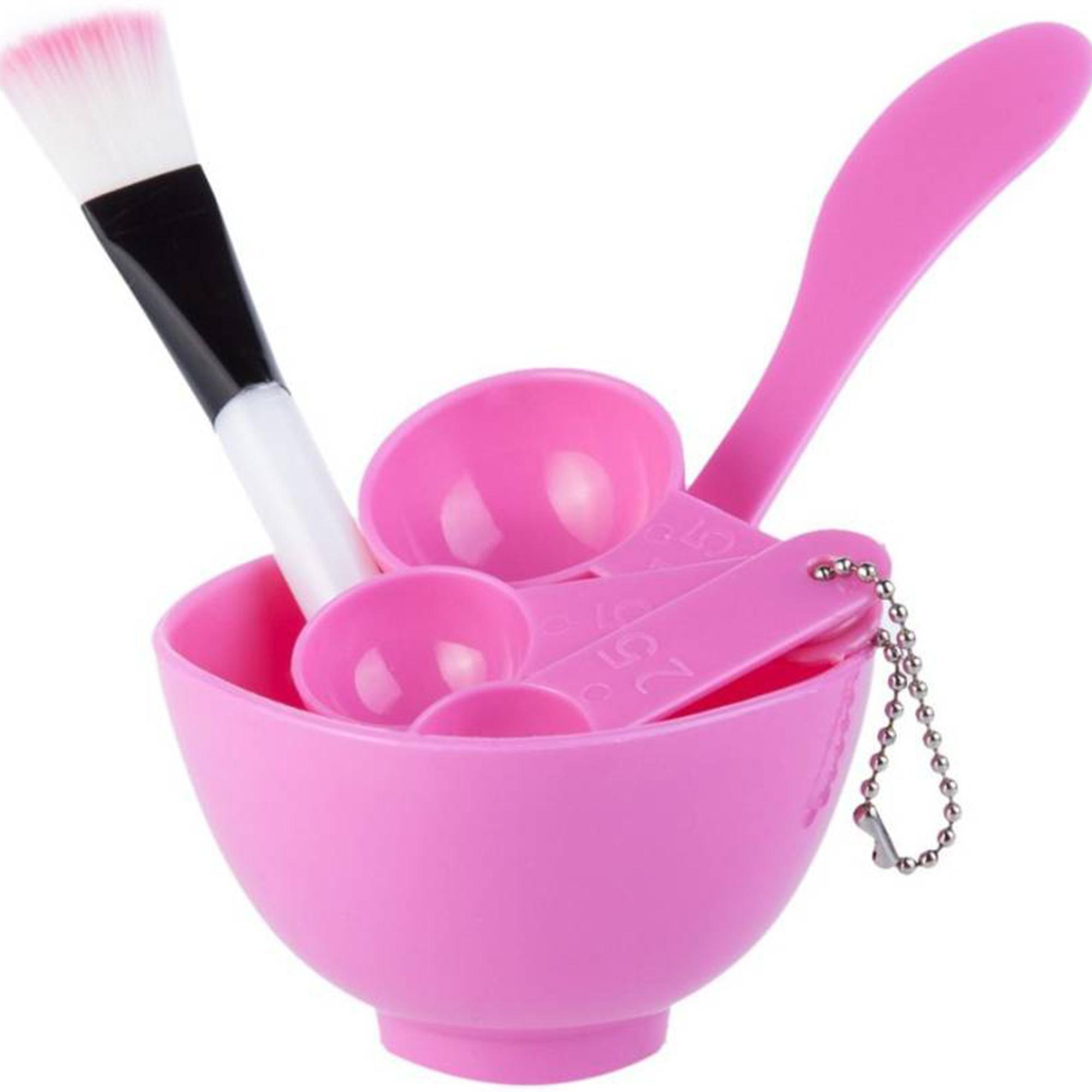 4 in 1 DIY Facial Beauty Mask Bowl with Stick Brush Set (Set of 6)