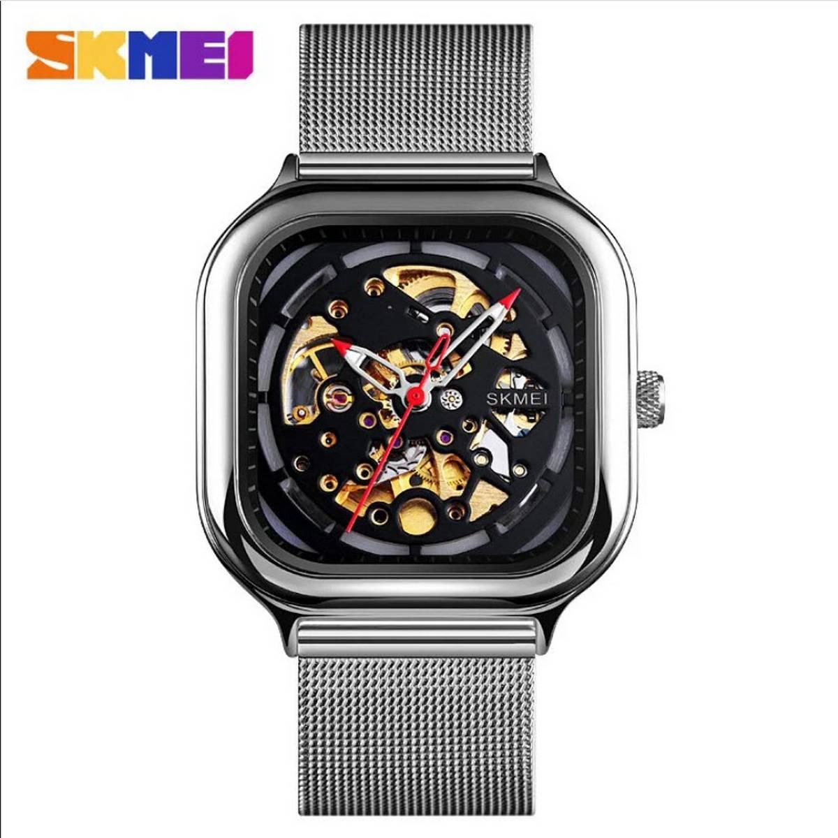 SKMEI 9184 Fashion Mechanical Watch Men Automatic Watch Quartz Waterproof Hollow Art