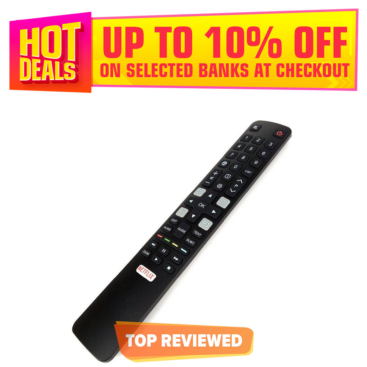 TCL Remote for S6500 Smart Android LED TV with NETFLEX Button