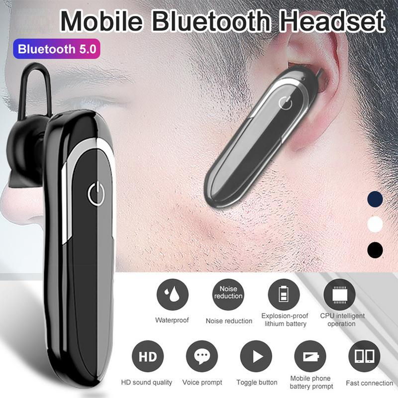 Bluetooth Earphone with HD Microphone Wireless Earpiece Car Earbuds DSP  Noice Support IOS/Android Smartphone