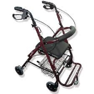 Rollator Walker big Wheels with Seat and Footrest
