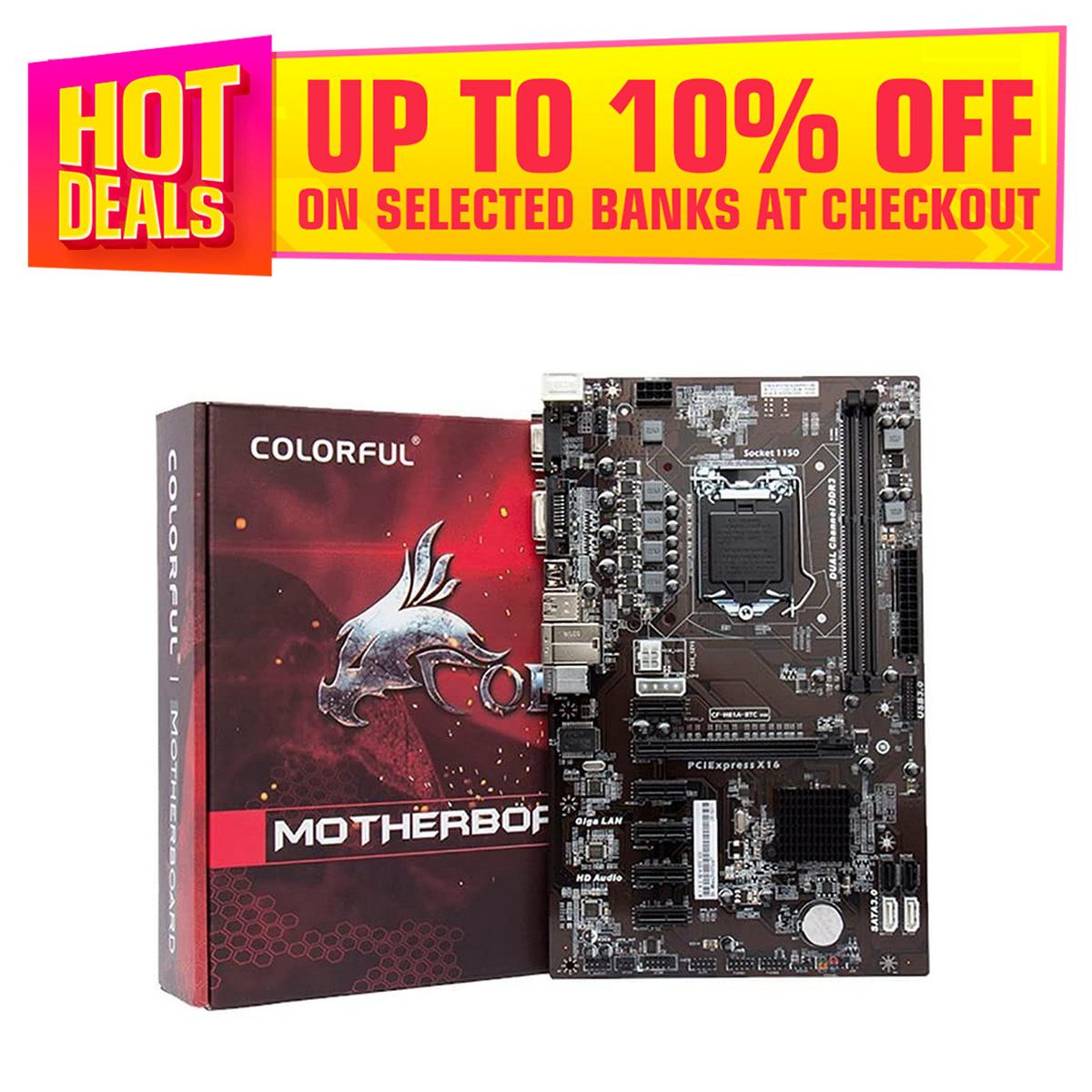 Colorful H81A-BTC V20 6 PCI-E Slots Motherboard