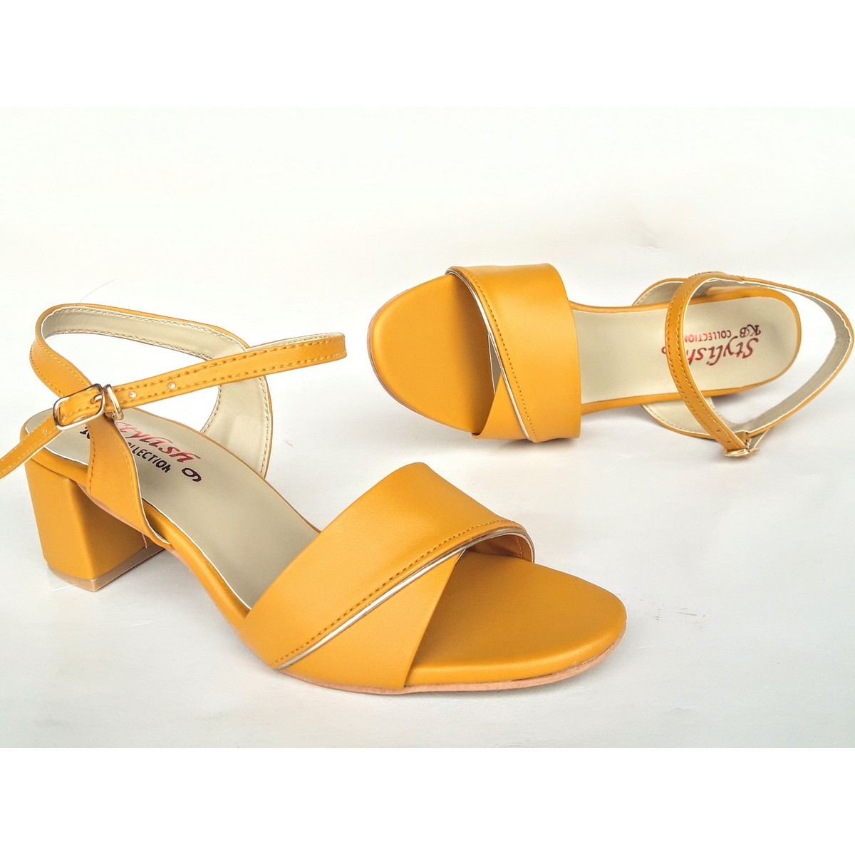 Stylish Pazaib Shoes Small Heel Sandals For Women