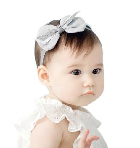 9bac4ccb44694 Newborn Baby Bow Headband Hair Bow knot Headbands Girls Bow Headband  Toddler Headwear Infant Hair Accessories