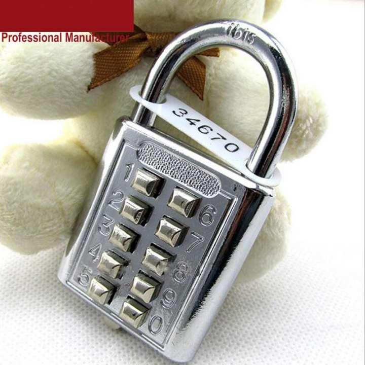 Heavy Duty Digit Combination Padlock Push Password Lock for GYM Locker Drawer Cabinet Door DIY