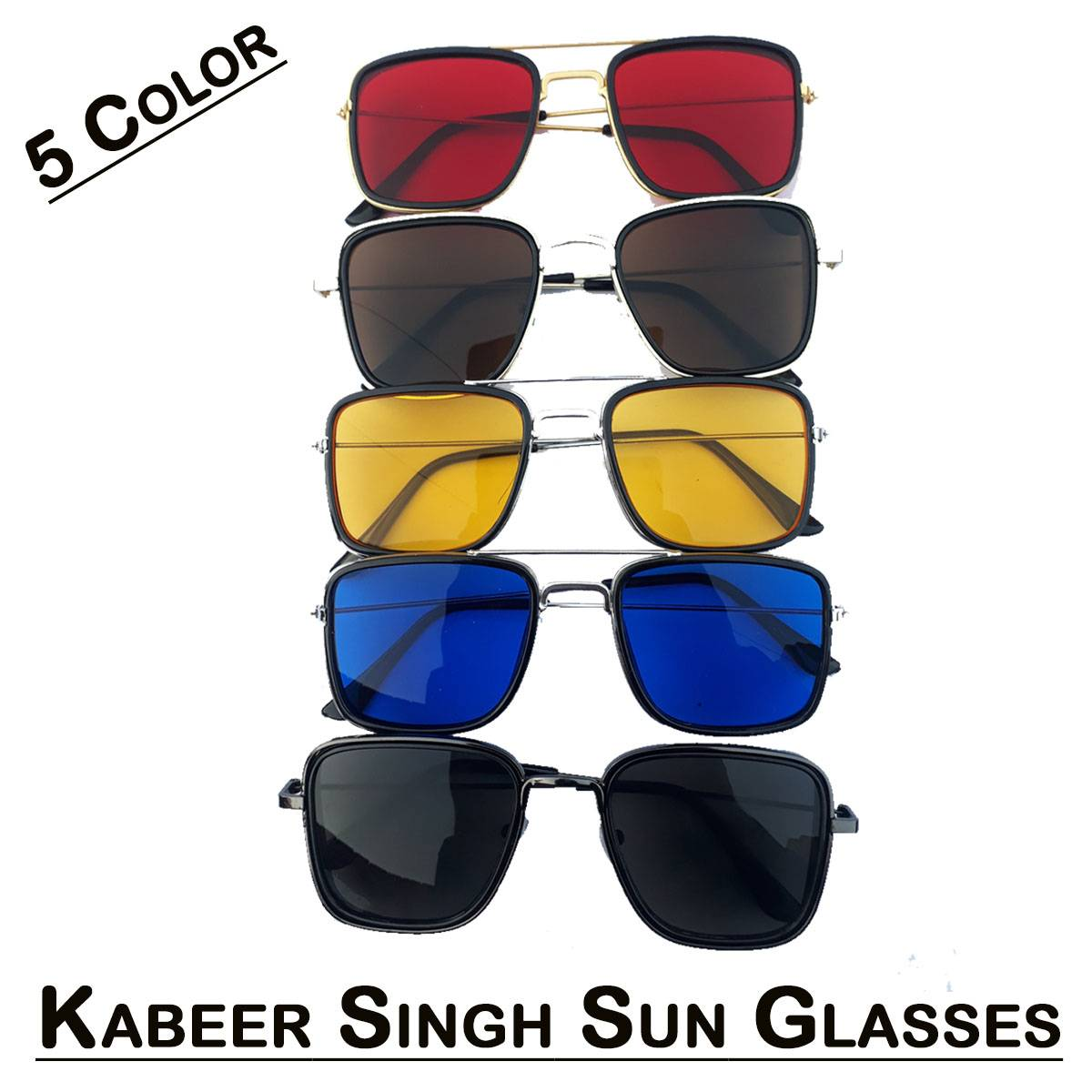 Fashion Sun Glasses for Men With Kabir Singh Shaped Eye Wear for Daily Use