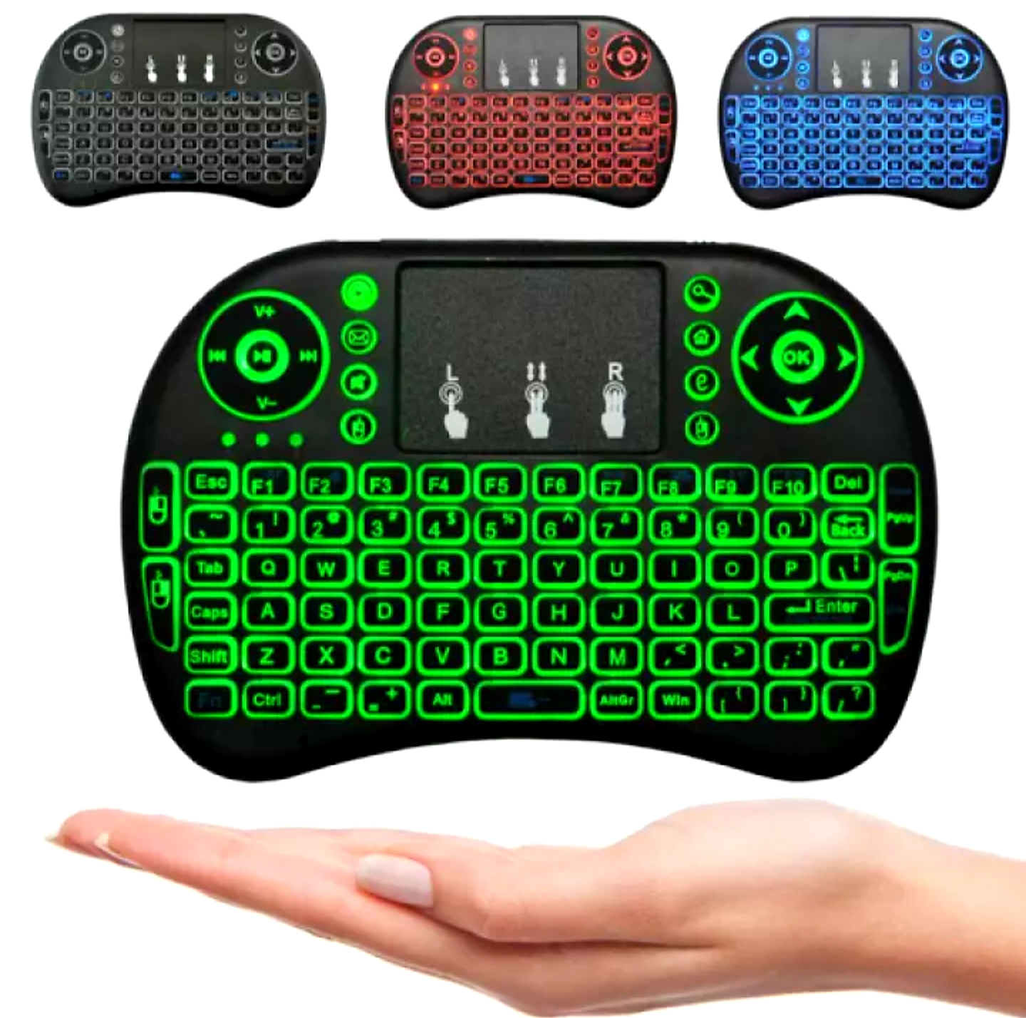 Best Wireless Keyboard for Smart LED TV Mobile Mini Touchpad Mouse RF 500 Warranted Bluetooth Gaming RGB Lighting Backlight LED Android TV Box Fancy Stylish Design Laptop Computer PC