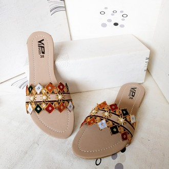 Sindhi Embroidery Style Slipper for women