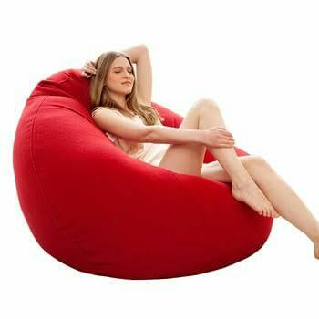 Remarkable Red Soft And Beautiful Bean Bag Sofa Ibusinesslaw Wood Chair Design Ideas Ibusinesslaworg