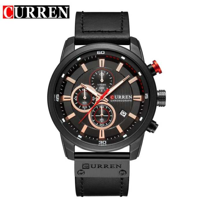 Curren 8291 Men Leather Band Strap Watch Mechanical Relogio Masculino