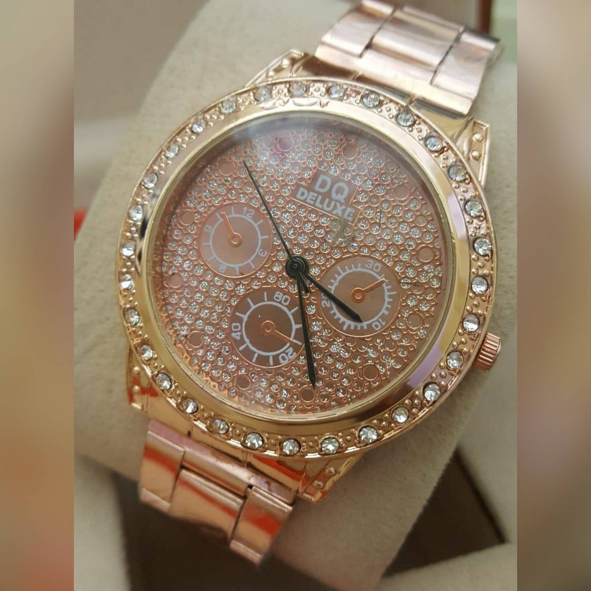 Stainless Steel Stylish Diamond Watch for Girls