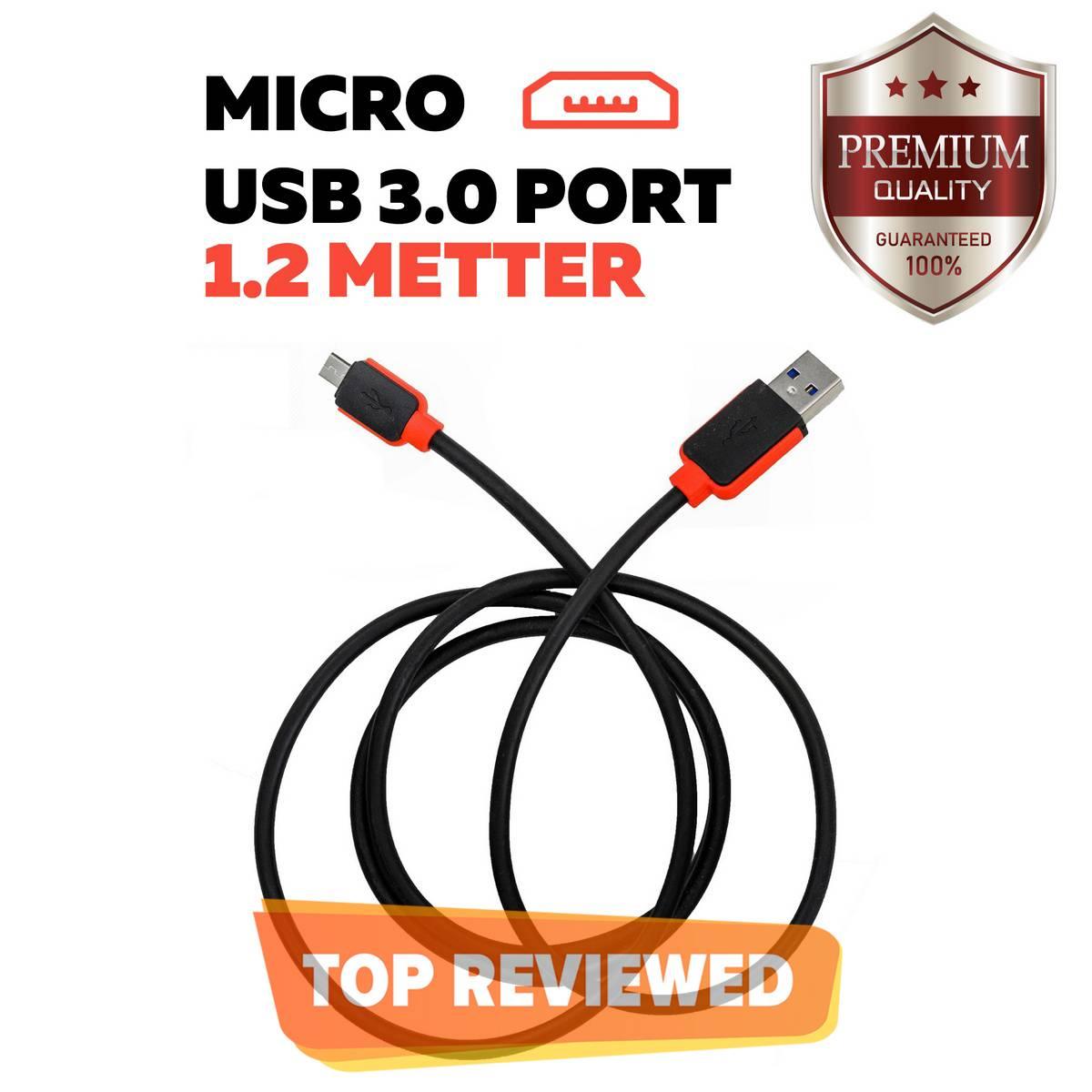 ORIGINAL Warner Data Cable 1.2 Meter Micro USB 3.0 Fast Charging  For Android Phones