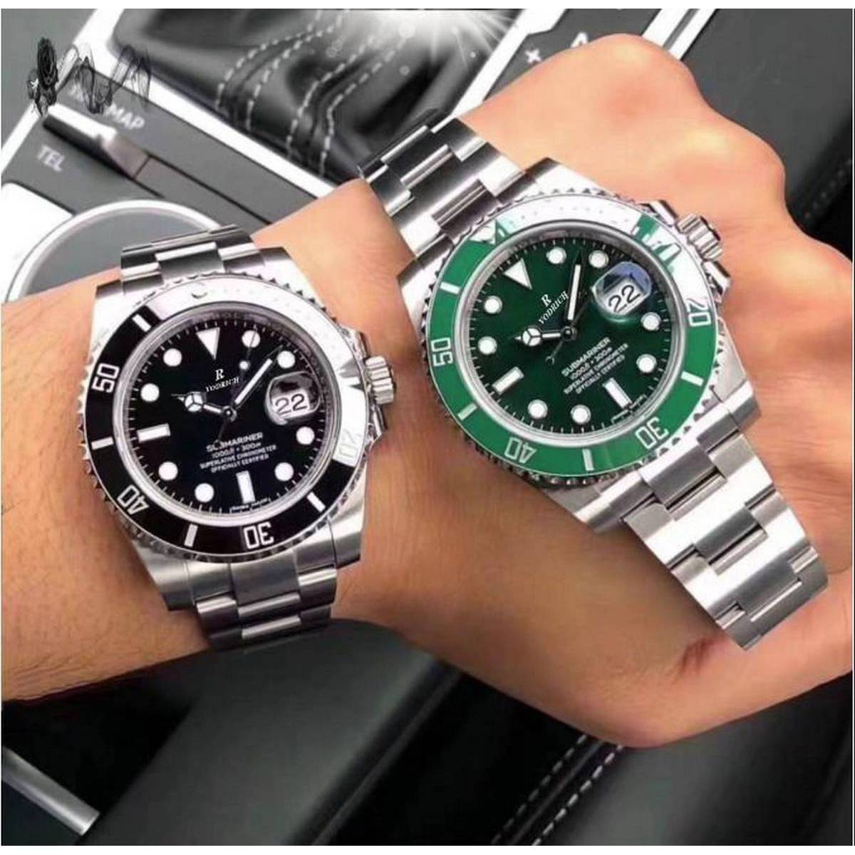 2020 Men's Pair AAA Watch Mechanical Stainless Steel Strap Automatic Simple Business Blue Gold Gold Date Watch