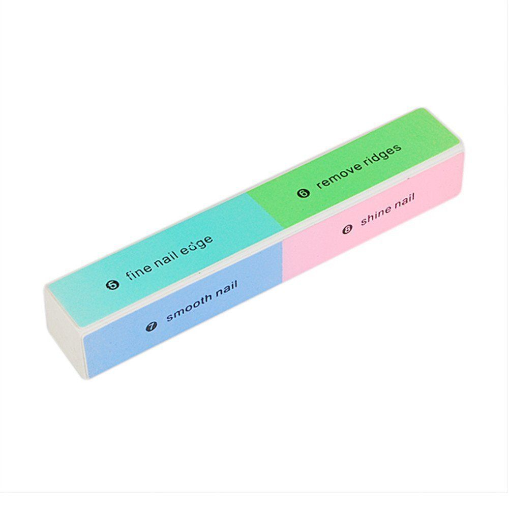 8 Way Nail Filer and Buffer Block Nail Buffering Files 8 Steps Washable Emery Boards Professional Manicure And Pedicure Tools
