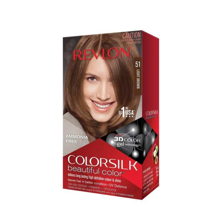 Revlon Color Silk Hair Color 3D Color Technology Light Brown (51)