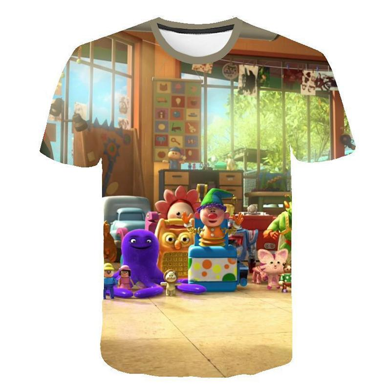 3D Print Casual T-Shirt Movie Toy Story 4 Short Sleeve Graphic Tee Womens Mens