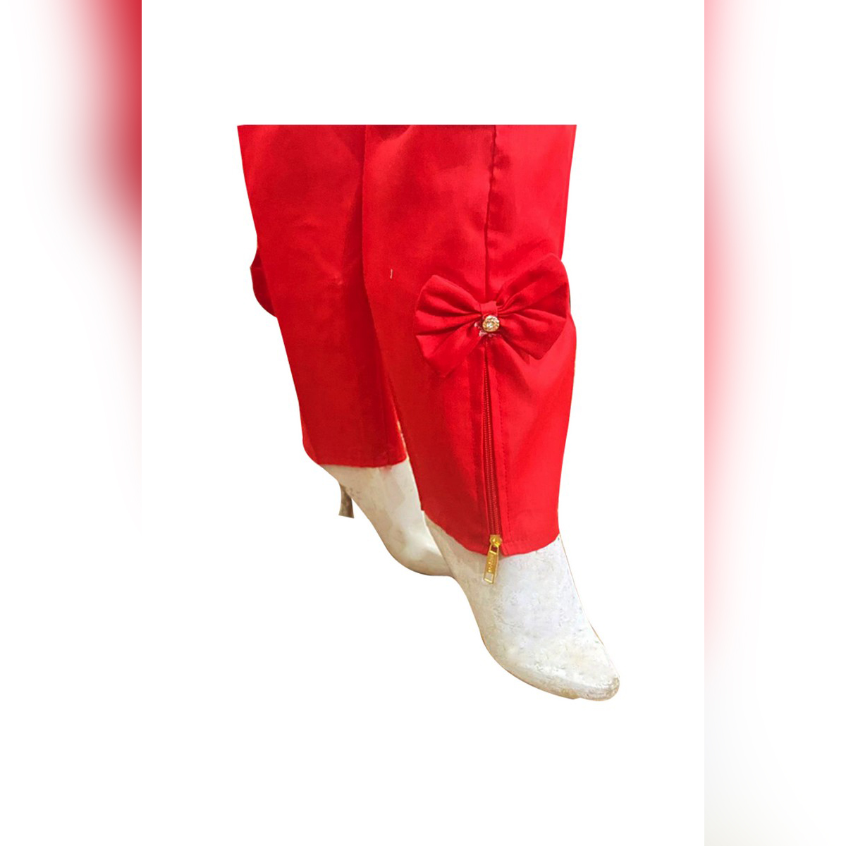 New zipper design of Cotton Stitched capri / trouser / pant for Girls Women & Ladies ( Size 38 INCH in Length )