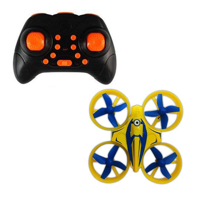 RC – Minion Mini Flying 6 Axis Gyro Drone – 2.4 GHz – 8cm