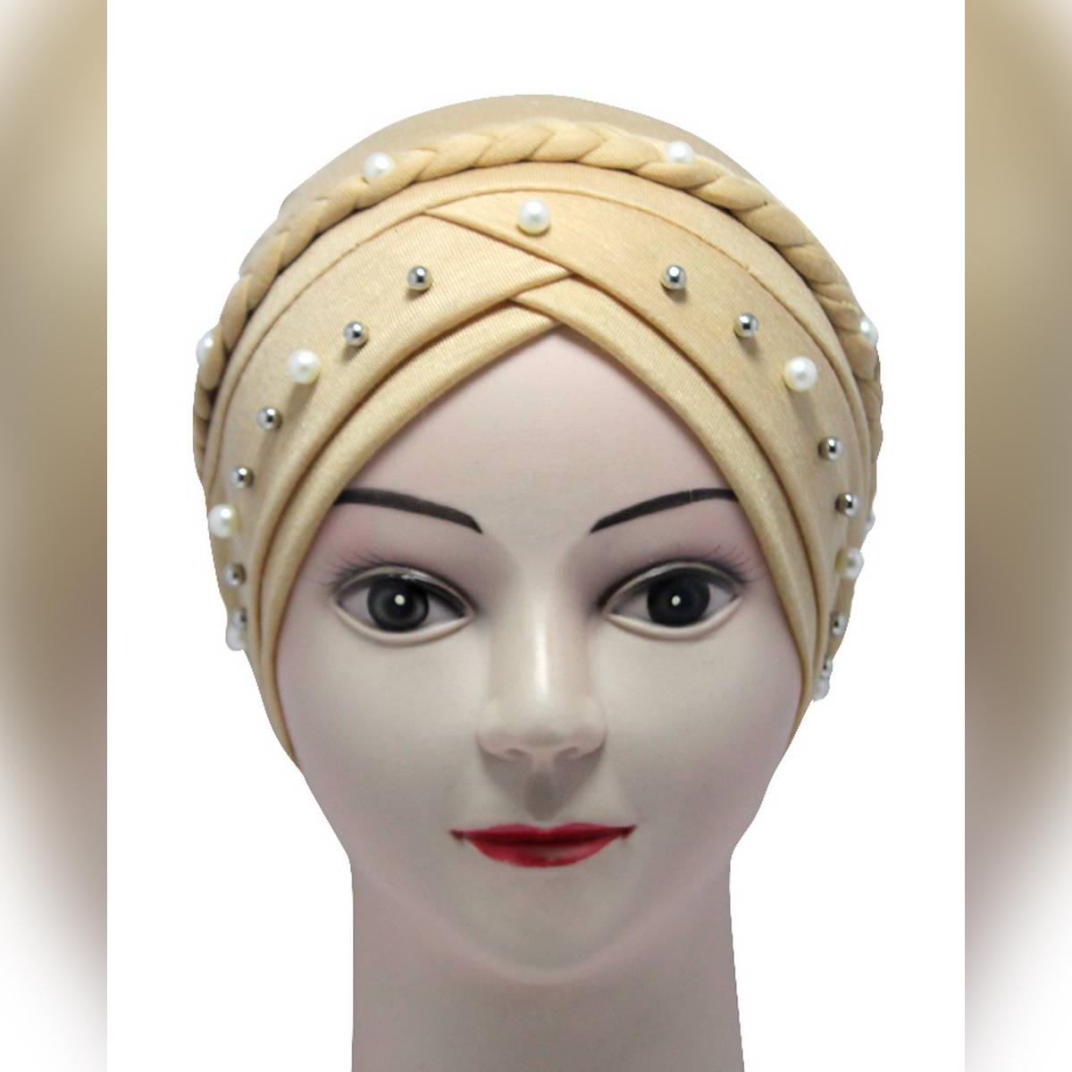 skin Muslim Hijab Cap Turban Stretch Hat Braid Hijab inner