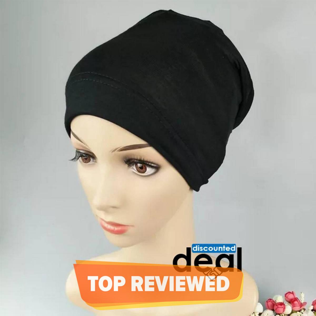 Plain Muslim Headscarf Inner Hijab Caps Wraps Women Islamic Under Scarf Ninja Scarf Ramadan Stretch Cotton Bonnet Caps