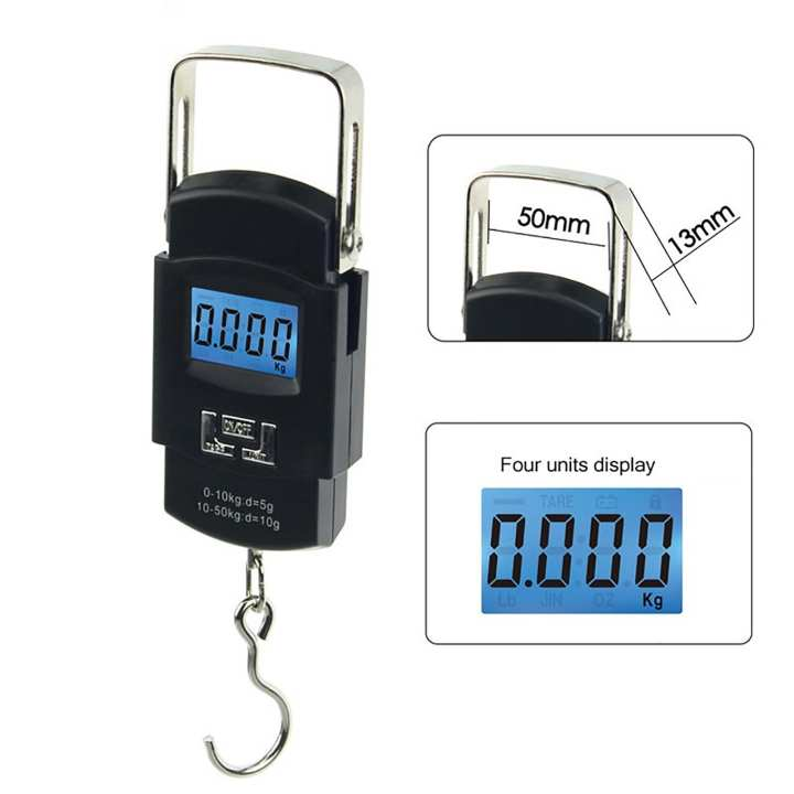 50KG Mini Portable Electronic Scale Weight Luggage Scale Digital Travel Hanging Hook Scale