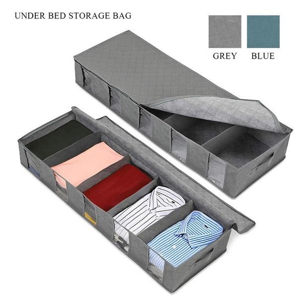 1xUnderbed Storage Bag Home Storage Organizer Under The Bed Organizer Fits for Kids Men & Women Clothes /Shoes