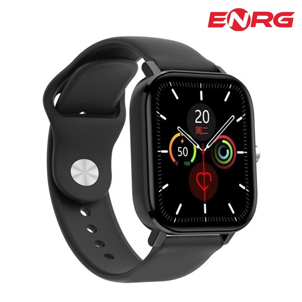 ENRG Smart Watch 1.75 inch Full HD 420*485 High Resolution Display Smartwatch Waterproof IP68 Bluetooth Calling Blood Pressure Health Monitoring Pedometer for Boys - Black