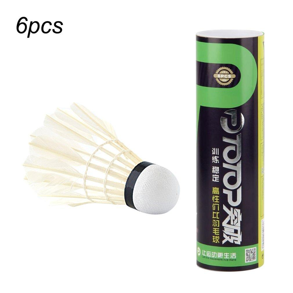 5Pcs Game Sport Training White Duck Feather Shuttlecocks Birdies Badminton N~ Weitere Ballsportarten Bälle
