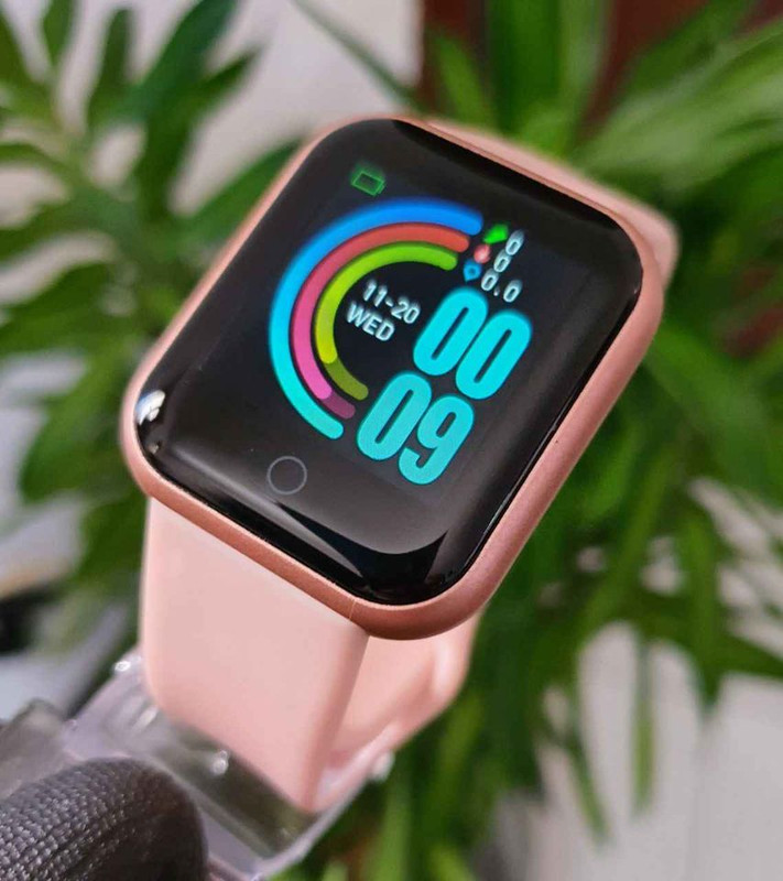 Pink Advanced Version Bluetooth Digital Wrist Sports Smart Watch IP67 Waterproof Bracelet Support Mobile Notification With Mobile App Connectivity Fitness Tracker & BP Monitor Step Counter 1.3 Inch TFT Screen With Digital & Smart Display