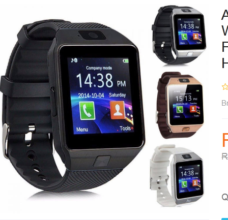 Advanced Version Fitness Bluetooth Smart Watch Digital Wrist Sports Watch With Camera For Apple iPhone Android Samsung Nokia Hauwei and Mi Phones