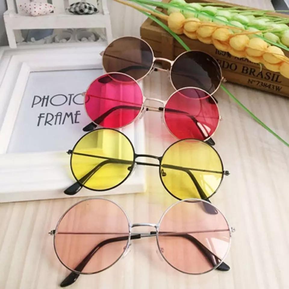 a49f7d9d86e Fashion Retro Round Sunglasses Women Sun Glasses Lens Alloy Sunglasses  female