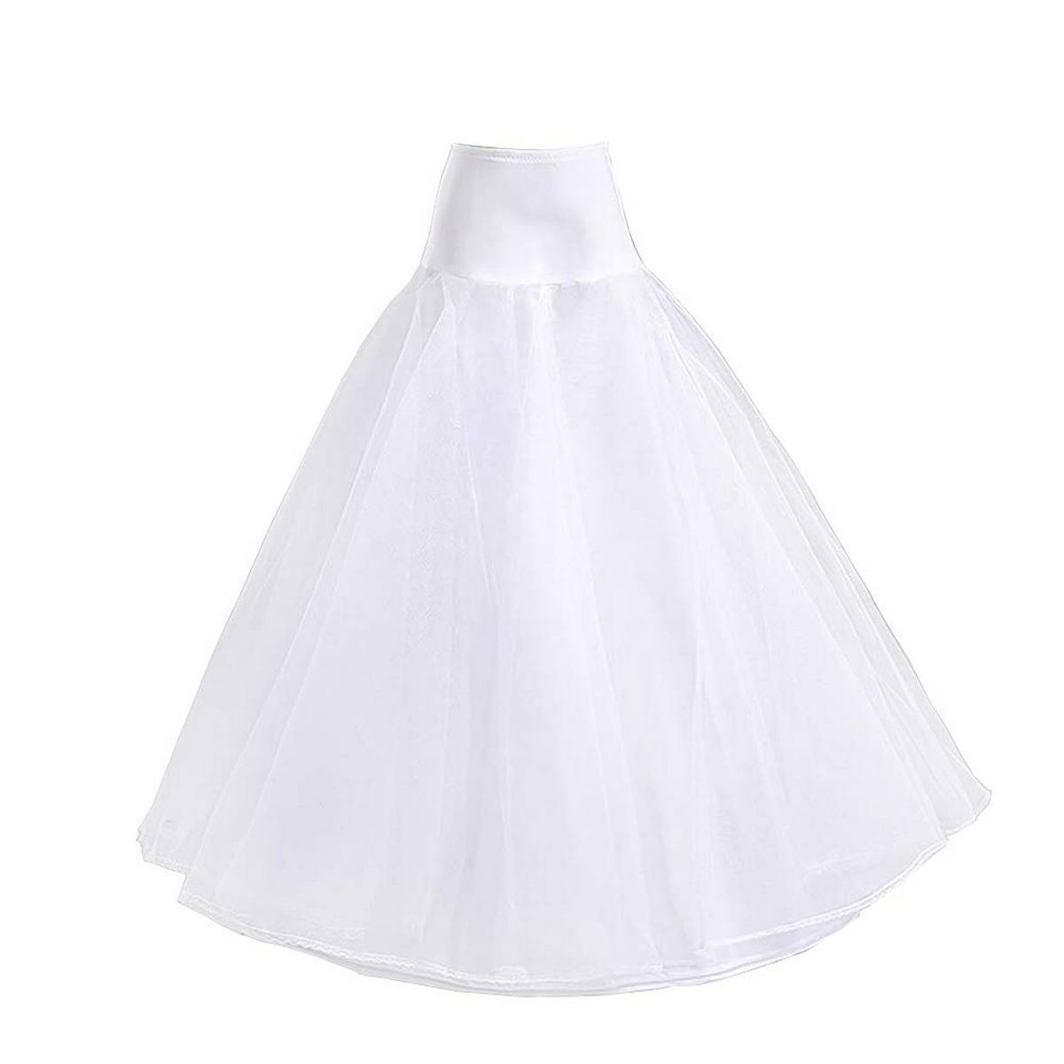 Stitched cancan under skirt -Length 39-Gear 116 inches-4 layers (white)