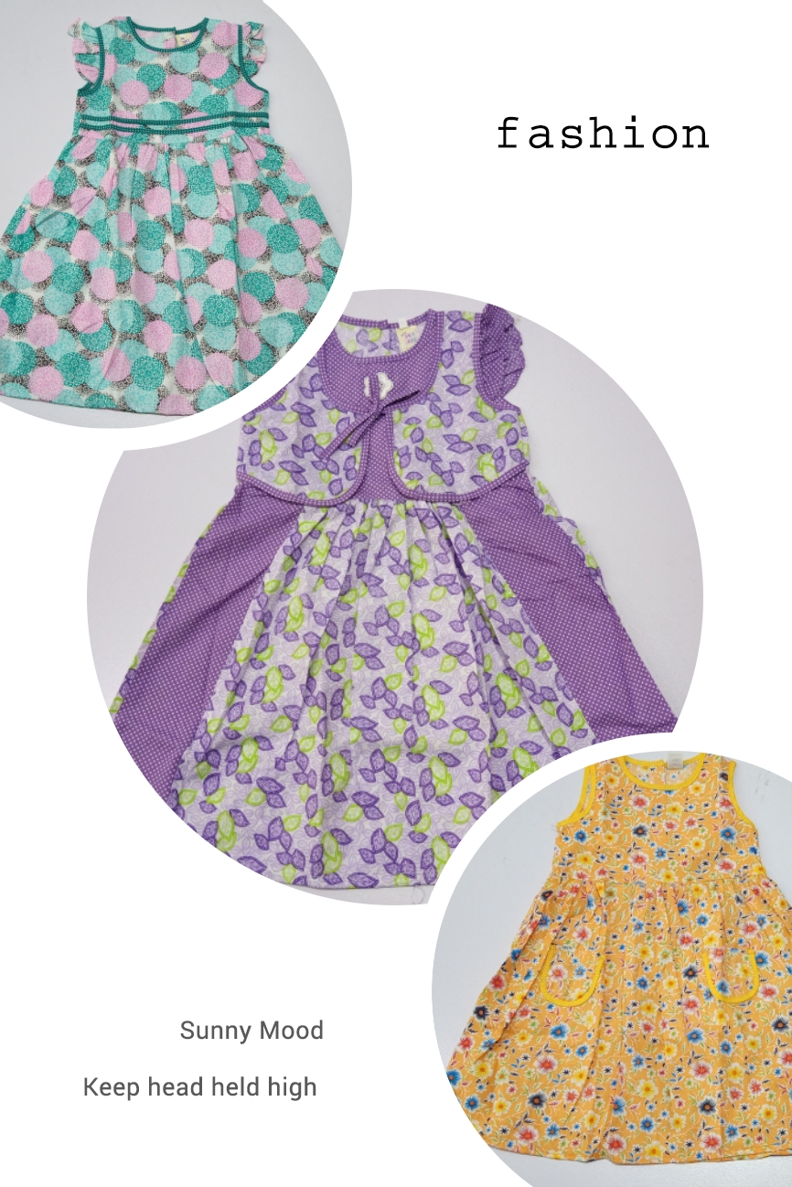 Cotton Frock Pack Of 3