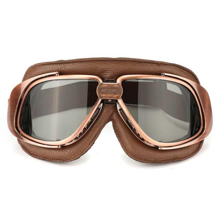 Motorcycle Motorbike Bike Pilot Goggles Helmet Eye Protect Grey Lens Glasses
